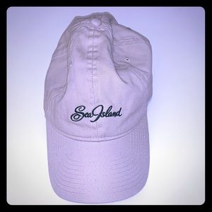 Sea Island ladies Khaki golf cap / ball cap , NWOT